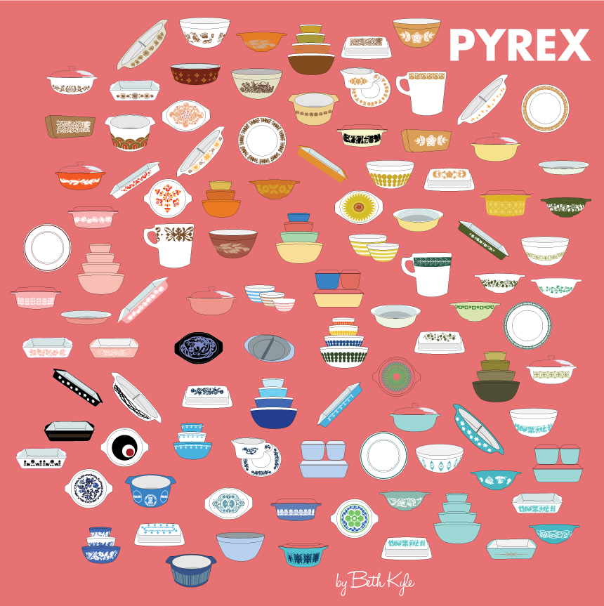 100 Pieces of Vintage Pyrex